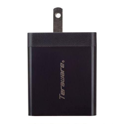 Cargador de pared 3 puertos de salida USB QC 3.0 carga rápida color Negro