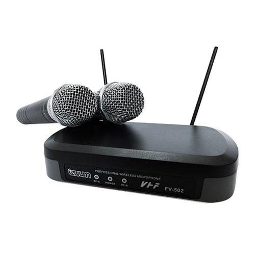 Micrófonos de mano inalámbrico Izuum FV-502 X2 cobertura 50 m