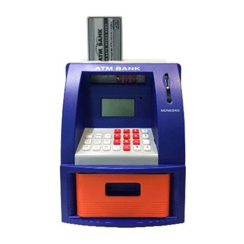 Cajero Automático con Teclado Digital, Juguete Para Ahorrar, Retira El Dinero con Su Clave y Tarjeta Atm, Detecta Las Monedas Automáticamente