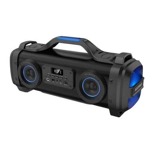 Parlante bluetooth Richards Blaster Boombox Rich Bass led, máx. 4 horas