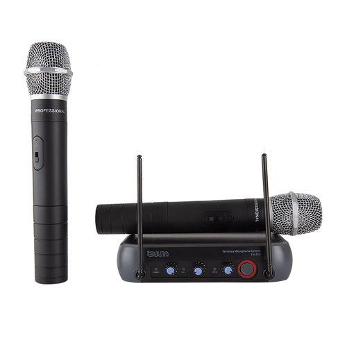 Micrófonos de mano inalámbrico Izuum FV-510 X2 cobertura 50 m