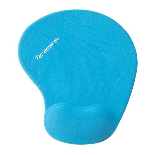Mouse Pad Diseño Ergonomico con Soporte de Gel Color Azul