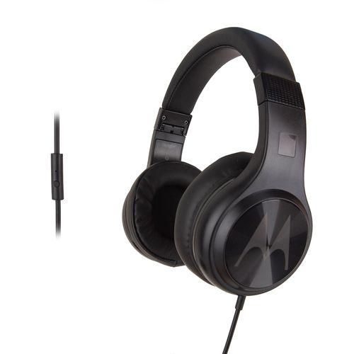 Audífono on ear con micrófono Motorola Pulse 120 comando de voz, conector 3.5 mm, negro