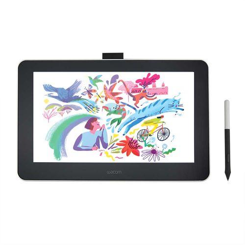 """Tableta Gráfica Wacom One 13 Pen Display, tamaño de pantalla de 13.3"""" FHD, velocidad de rspta de 26ms, incluye lapiz digital, negro"""