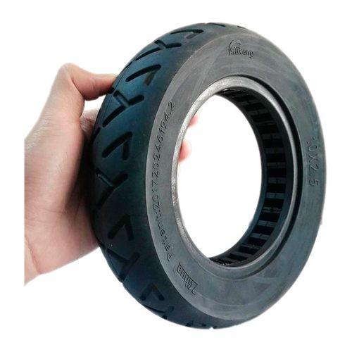 """Llanta sólida para scooter de 2.5"""" color negro, de goma, resistente a la abrasión, antideslizante, de alta calidad y duradero, no lleva cámara interna"""