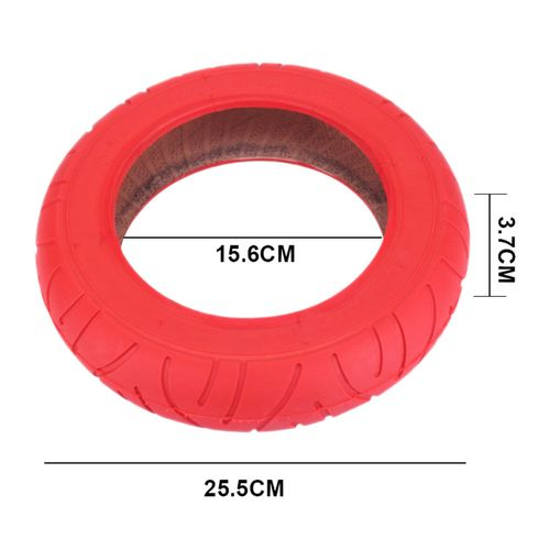 """Neumático exterior (sin cámara) de 10"""" x 2"""" para scooter, color rojo, de goma, resistente y antideslizante, de fácil instalación"""