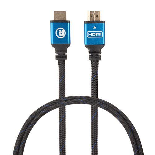 Cable HDMI 2.0 4K con ethernet macho a macho, trenzado, azul con negro, de 6 pies