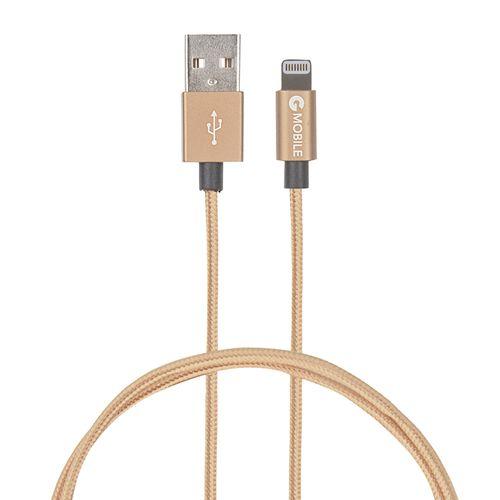 Cable Lightning A Usb 30Cm Metal Tip Dorado
