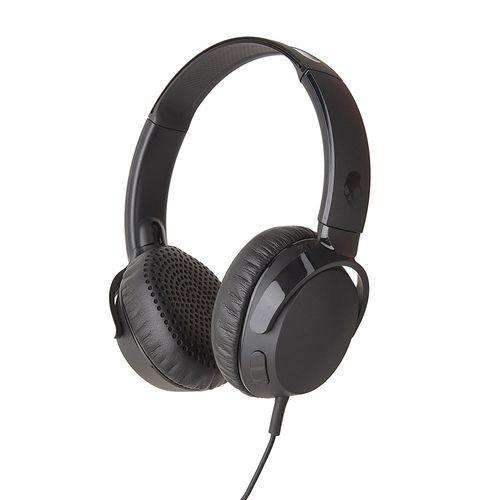 Audífono On ear con micrófono RIFF, control de llamadas y música, diseño plegable, diadema súper resistente, conector plug de 3.5mm, Negro