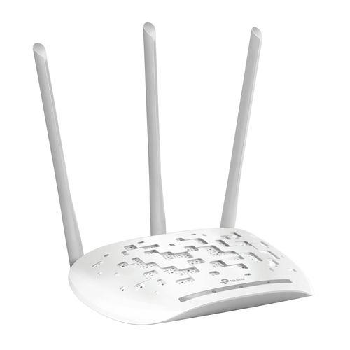 Punto de acceso inalámbrico/Extensor de red WiFi 450 Mbps con 3 antenasTP-Link - Power over Ethernet, WPS, 3 antenas 5dbi, desmontable, blanco