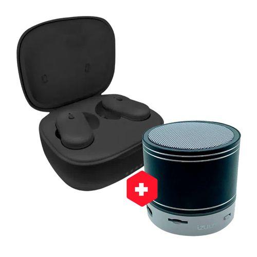 Audífono Bluetooth TWS Q10 + Parlante Bluetooth Negro