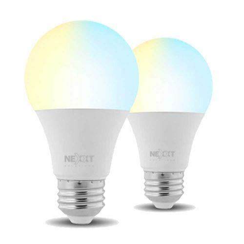 Pack x 2: Focos LED inteligentes Wi-Fi 220V, Tipo de Bombilla A19, Luz blanca y cálida, Puede regular la intensidad