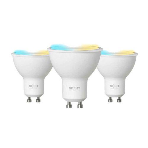 Pack x 3: Focos Diacroicos LED inteligente Wi-Fi 220V, Tipo de Bombilla MR16,Luz blanca y cálida, Puede regular intensidad