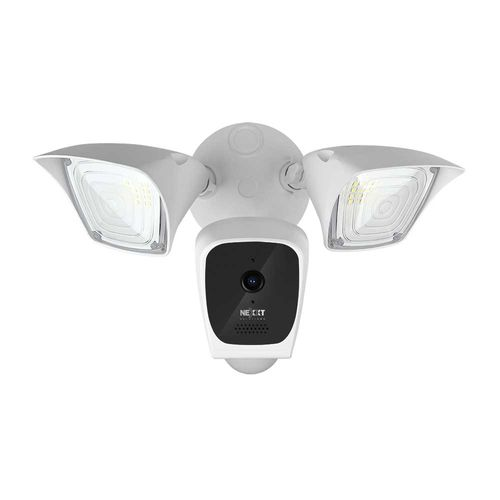 Cámara fija WiFi Smart para exteriores, 2 MP, FHD, 1080P, ángulo de visión 85°, IP65, incluye lamparas y sensor de movimiento, Audio bidireccional