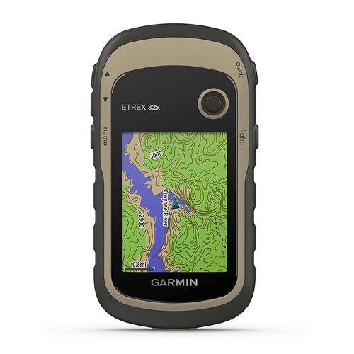 Navegador Etrex 32x, sistemas por satélite GPS y GLONASS, cartografía con cobertura sudamericana, 8GB