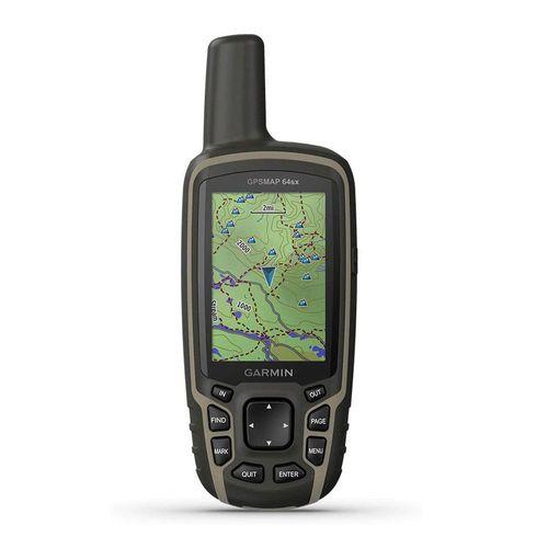 Navegador GPS, glonass y galileo Garmin MAP 64Sx cartografía TopoActive sudamericana, 8GB, 16 horas