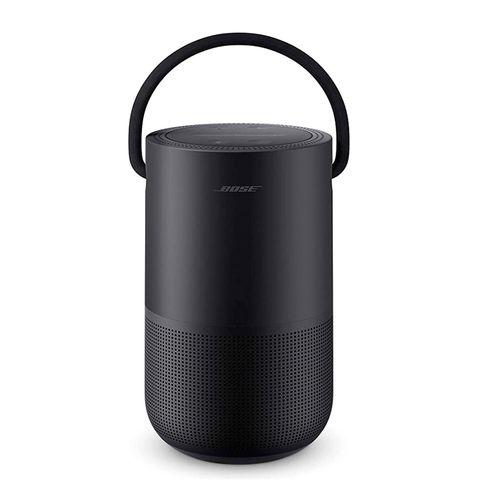 Parlante bluetooth BOSE HOME PORTABLE, wifi, control de voz, audio 360°, resistente al agua, controles tátil, asa de transporte, color Negro