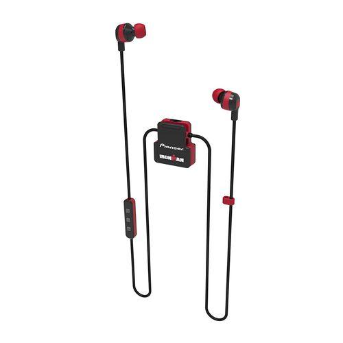 Audífono bluetooth In ear deportivo Ironman Pioneer resistente al agua IPX4, micrófono integrado, Negro/Rojo