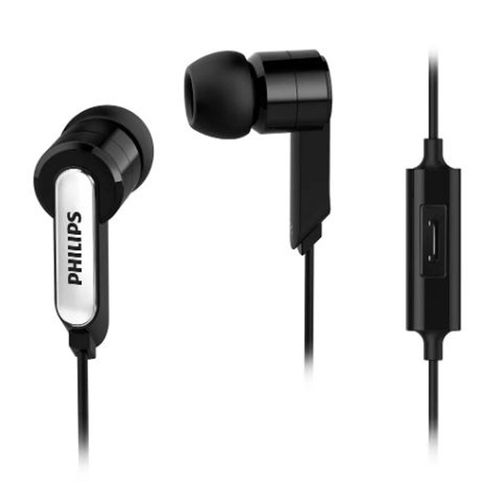 Audífono In ear con micrófono SHE1405BK almohadillas de silicona, cable plug 3.5mm