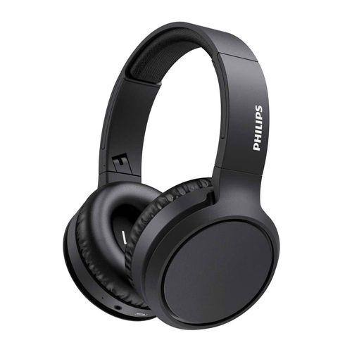 Audífono Bluetooth Over Ear TAH5205BK/00 BASS con refuerzo de graves, 29h de batería, carga rápida, micrófono incorporado, Aux-in, Negro