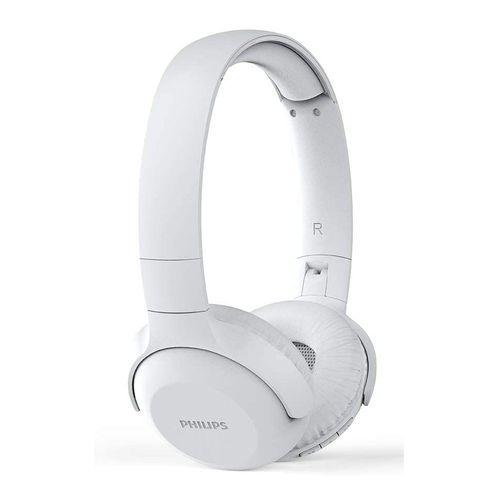 Audífono Bluetooth On ear TAUH202BK/00 con graves potentes, micrófono incorporado, control de música y llamadas, diseño plegable, Blanco