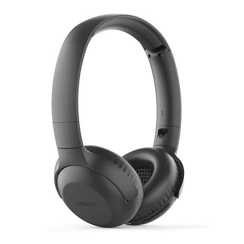 Audífono Bluetooth On ear TAUH202BK/00 con graves potentes, micrófono incorporado, control de música y llamadas, diseño plegable, Negro