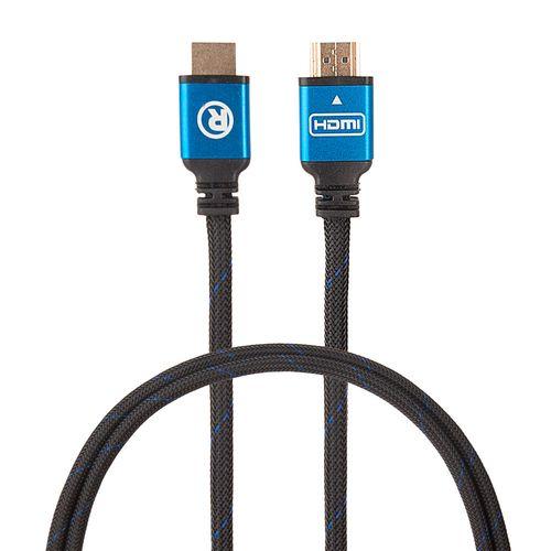 Cable HDMI 2.0 4K con ethernet macho a macho, trenzado, azul con negro, de 3 pies