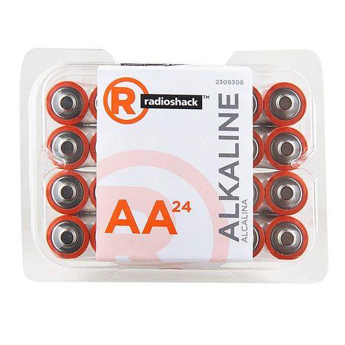 Pilas alcalinas AA Pack X24, larga duración