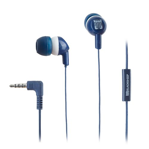 Audífono in ear con micrófono Black Sheep Alianza Lima almohadillas de silicona, conector 3.5 mm, azul