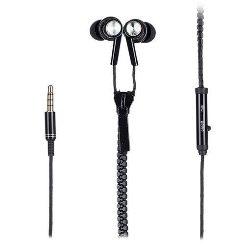 Audífono in ear con micrófono Coolbox diseño cierre, conector 3.5 mm, negro