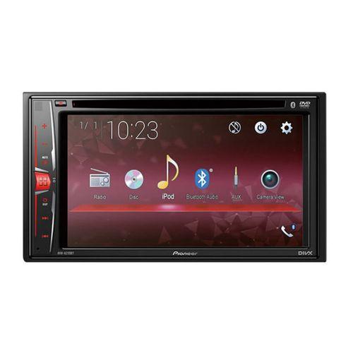 Autoradio AVH-A215BT, pantalla táctil transparente WVGA de 6,2″ con luz de fondo LED, Conectividad avanzada con smartphone, BT/DVD