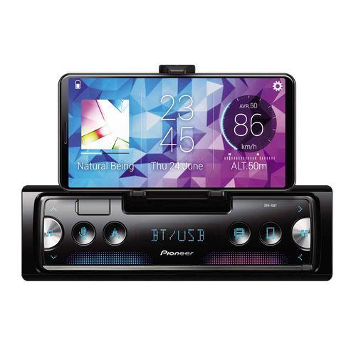 Autoradio SPH-C10BT, -Sintonizador multimedia para smartphone, Panel frontal desmontable