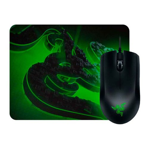 Kit gaming Razer Mouse Abyssus Lite + mouse pad Goliathus Mobile Construct