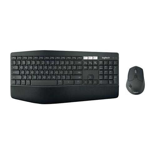 Combo Teclado y Mouse Inalámbrico MK850, Bluetooth, Teclado con reposa manos y Mouse con 8 botones