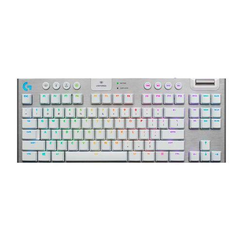 Teclado Mecánico Gaming sin Teclado Numérico G915 TKL RGB LIGHTSYNC con Tecnología inalámbrica Lightspeed - Blanco