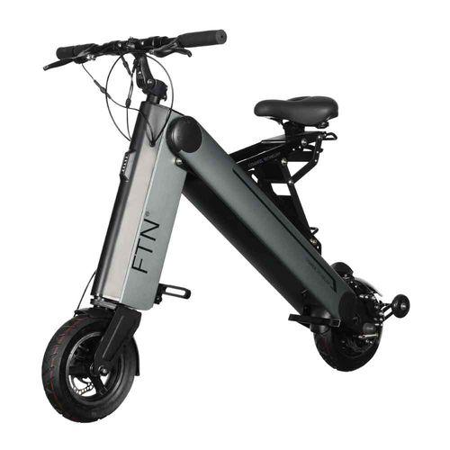"""Scooter eléctrico plegable FTN AX1 PRO, color gris, vel máx 30 km/h, autonomía 40-45 km, llantas 10"""", tolerancia 120 kg, 350W, conexión bluetooth, APP"""