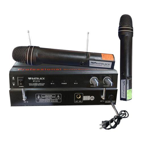 Micrófono inalámbrico Batblack BT-219 X2 cobertura de 40 a 60 m