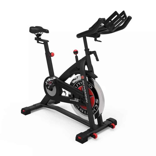 Bicicleta Spinning Schwinn IC3, manillar y asiento multiposición, volante de 18kg, pedales doble cara, LCD con: tiempo, distancia, calorías, RPM