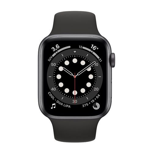 Smartwatch Apple Watch Series 6 Con Gps, pantalla retina 44Mm, llamadas manos libres, wifi y bluetooth - negro