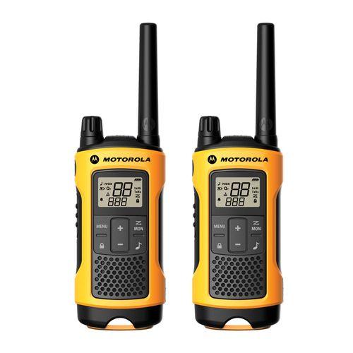 Radio FRS talkabout T402PE, alcance 56 km, 14 canales con 121 códigos, resistente al agua IPX4 con linterna