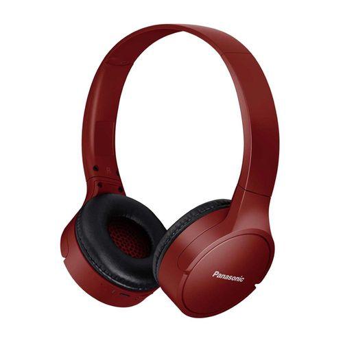 Audífono Bluetooth On ear HF420 Extra Bass System Bajos potentes, 50h de batería, micrófono incorporado, carga rápida, Rojo