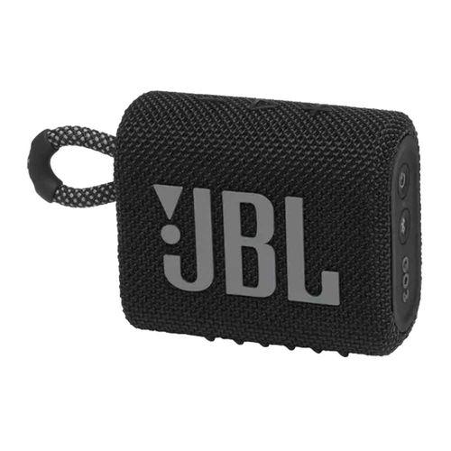 Parlante bluetooth JBL Go 3 IPX7, máx. 5 horas, negro