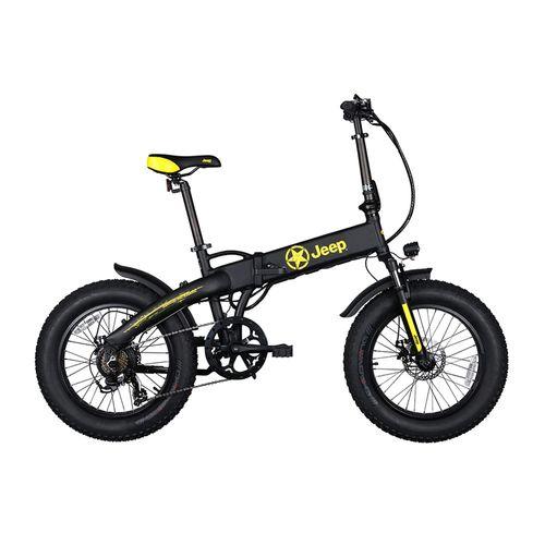 Bicicleta eléctrica plegable Jeep autonomía 30-40 km, vel. 25km/h, 7 velocidades shimano, luz y supesión delantera