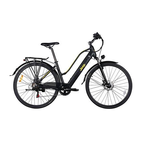 Bicicleta eléctrica Jeep Trekking autonomía 30-35 km, vel. 25km/h, suspensión delantera, 6 velocidades shimano