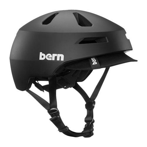 Casco Bern Brentwood 2.0 S tecnología Zipmold visera suave, 52-55.5 cm, negro mate