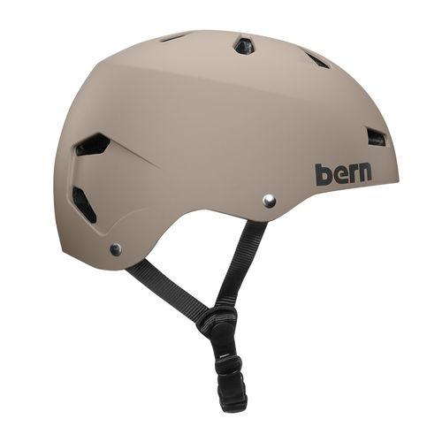 Casco Bern Macon M carcasa ABS, espuma EPS, 55.5-57 cm, arena mate