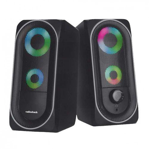 Parlantes para pc Radioshack usb 2.0, luces LED, 3w x2