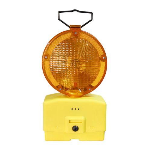 Lámpara De Tráfico con 2 baterías de 6V, faro giratorio 180°, visibilidad 500 metros, duración 300 horas