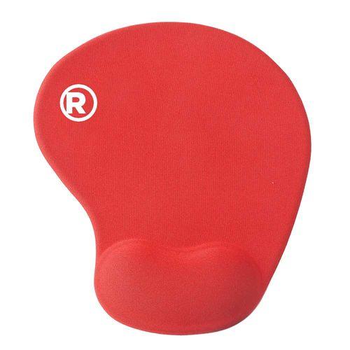 Mouse Pad con Gel apoya muñeca Color Rojo
