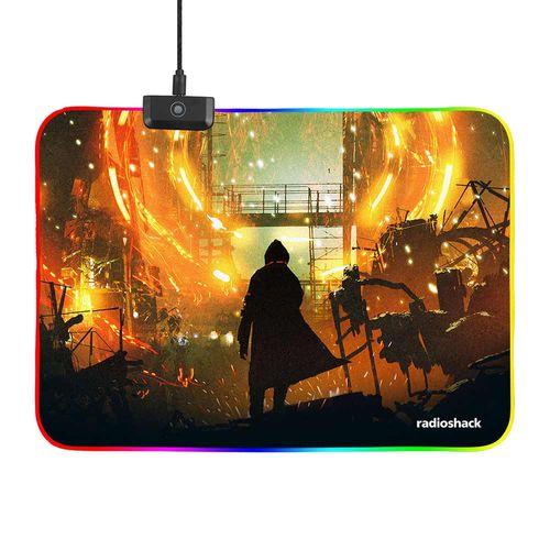 Mouse Pad Gaming The Rising con Luces RGB, 12 modos de iluminación, 35 x 25 cm
